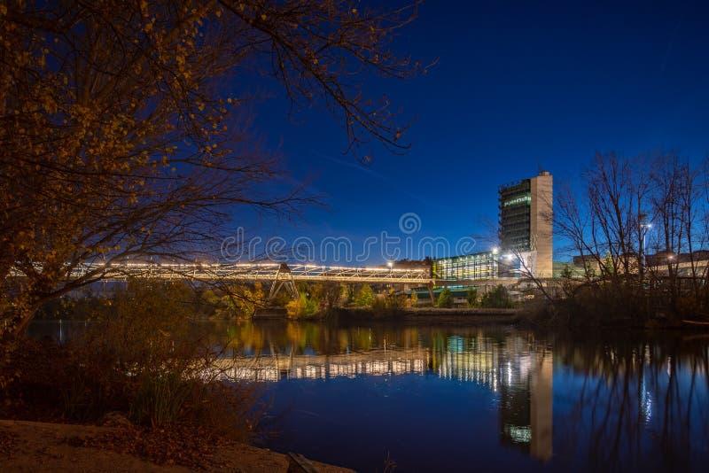 Stad av Valladolid i Spanien arkivfoto