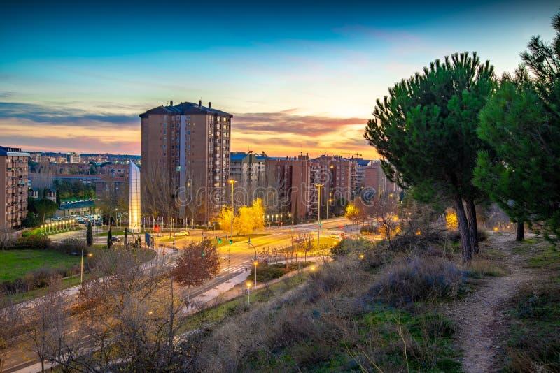 Stad av Valladolid i Spanien royaltyfri fotografi