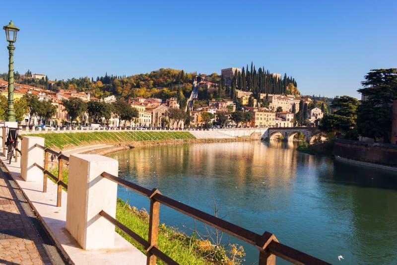 Stad av Verona italy arkivfoton