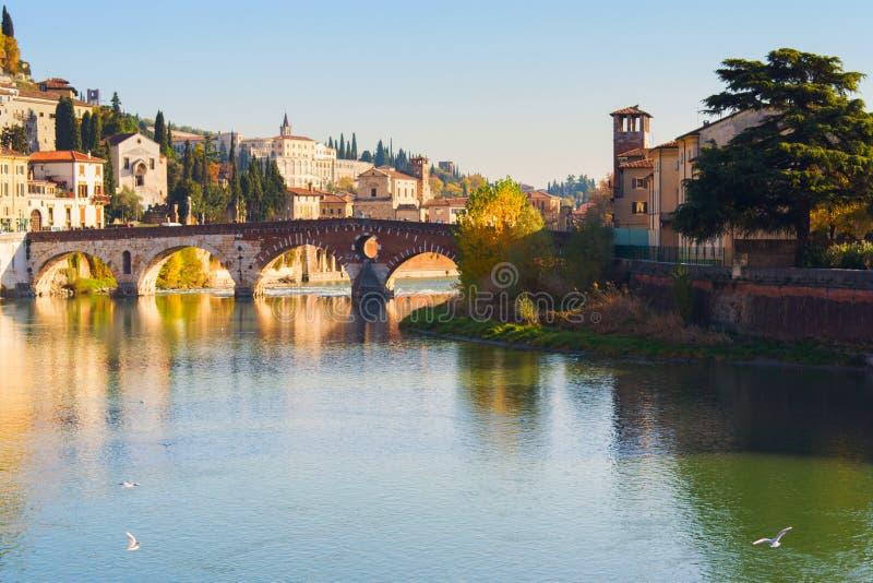 Stad av Verona italy royaltyfri fotografi
