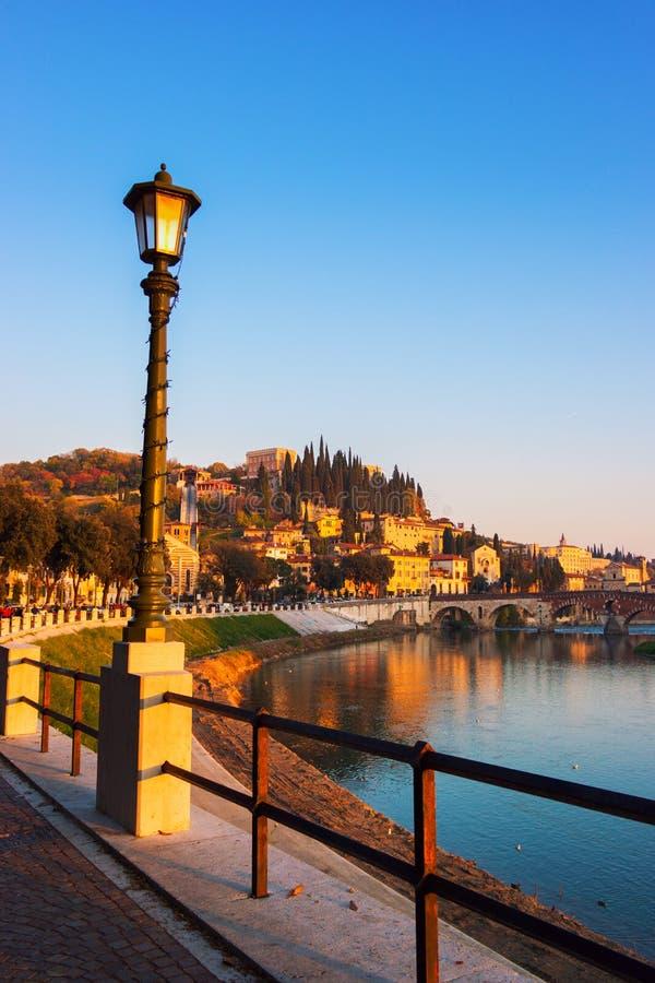 Stad av Verona italy royaltyfria bilder