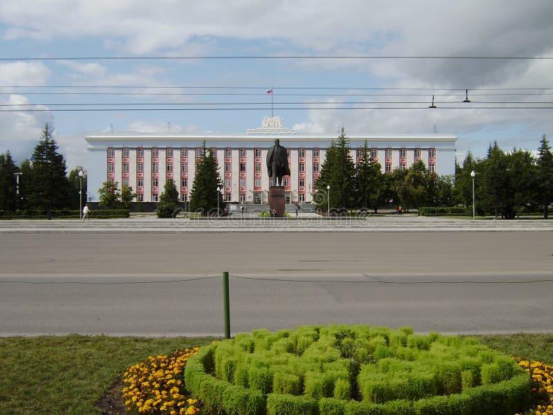 Stad Barnaul, Ryssland, Altai royaltyfria foton