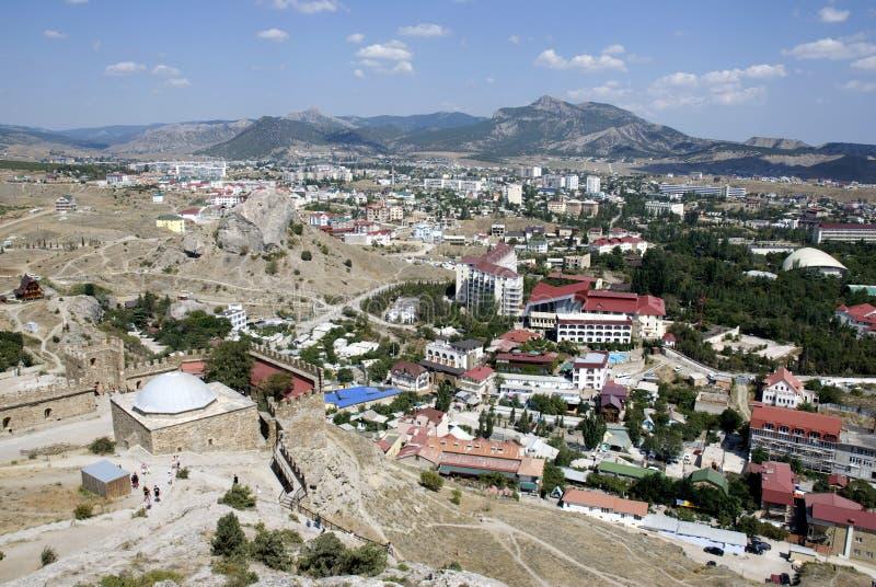 Stad in bergen royalty-vrije stock foto's