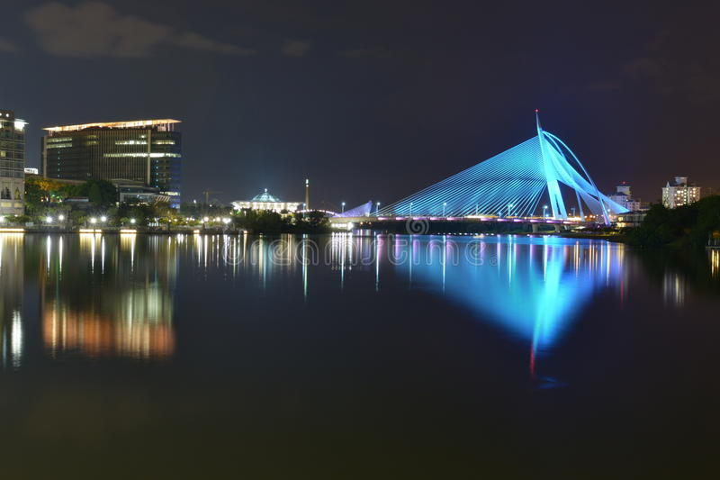 Stad bij Nacht stock afbeeldingen