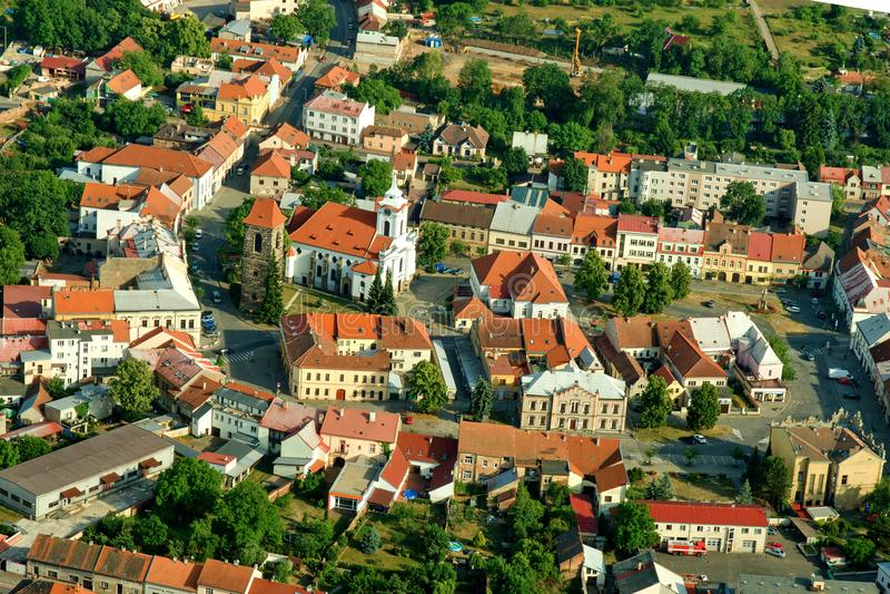 Stad Cesky Brod - Historische stad stock foto's
