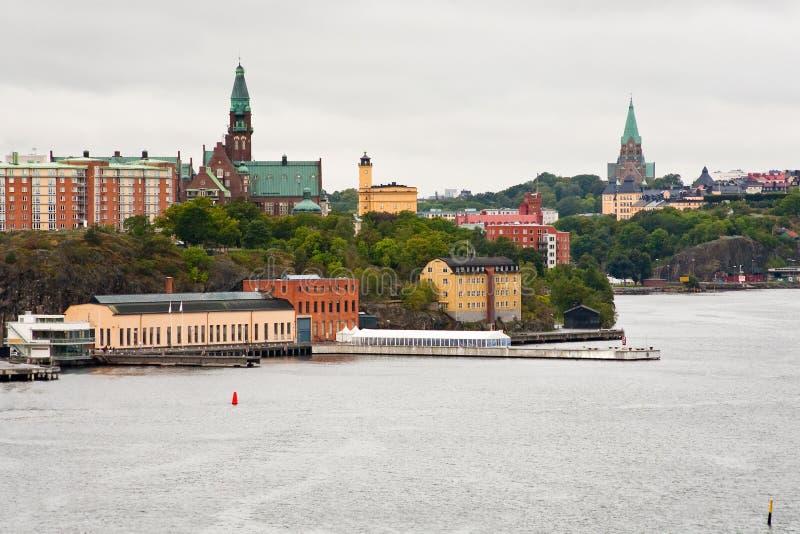 Stad, Danvikshem, de Kerk van Sofia in Stockholm stock afbeelding