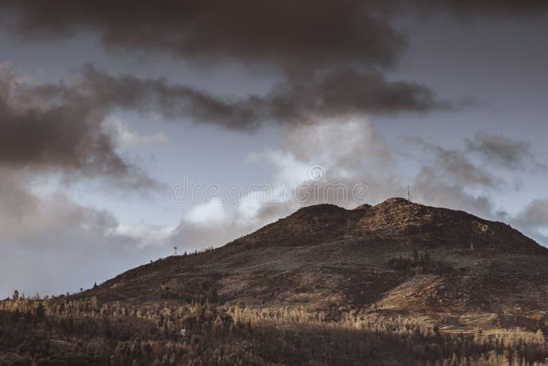 Stad in de Heuvels royalty-vrije stock foto's