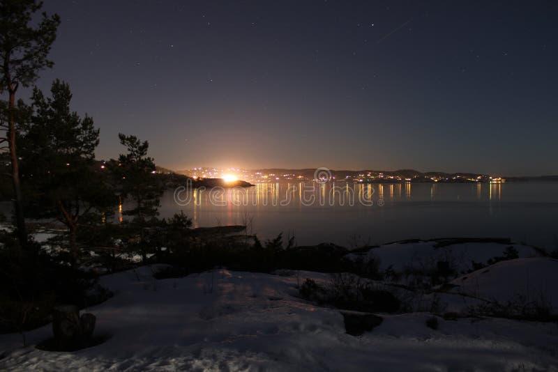 Stad in de nacht royalty-vrije stock foto's