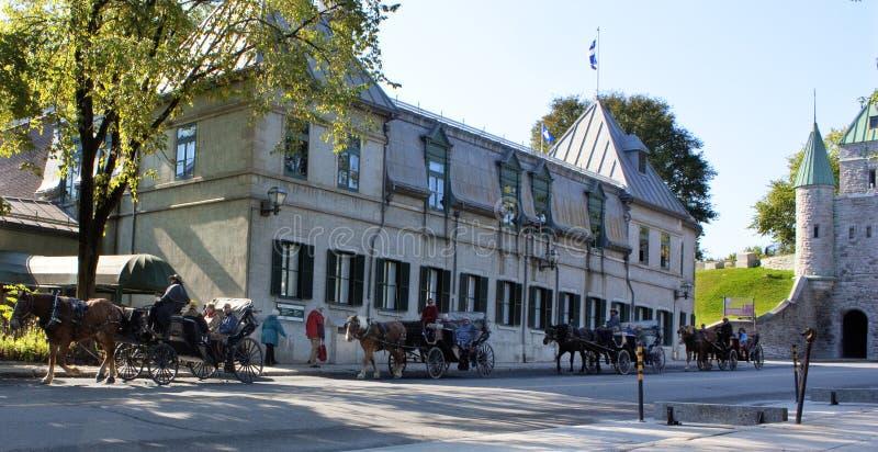 Stad de van de binnenstad van Quebec bij de ochtend royalty-vrije stock foto's