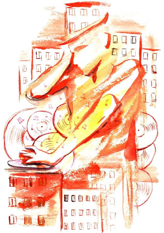 Stad DJ vector illustratie