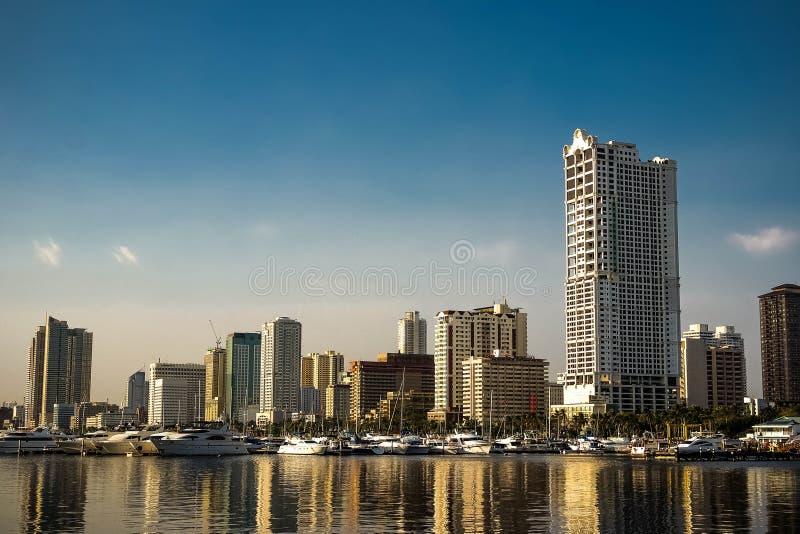 Stad door de baai royalty-vrije stock afbeelding
