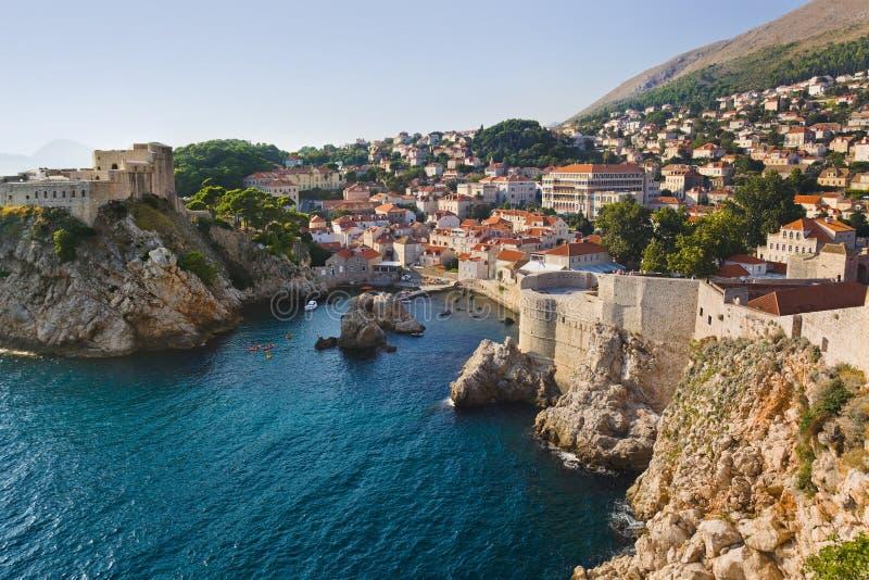 Stad Dubrovnik in Kroatië stock afbeelding