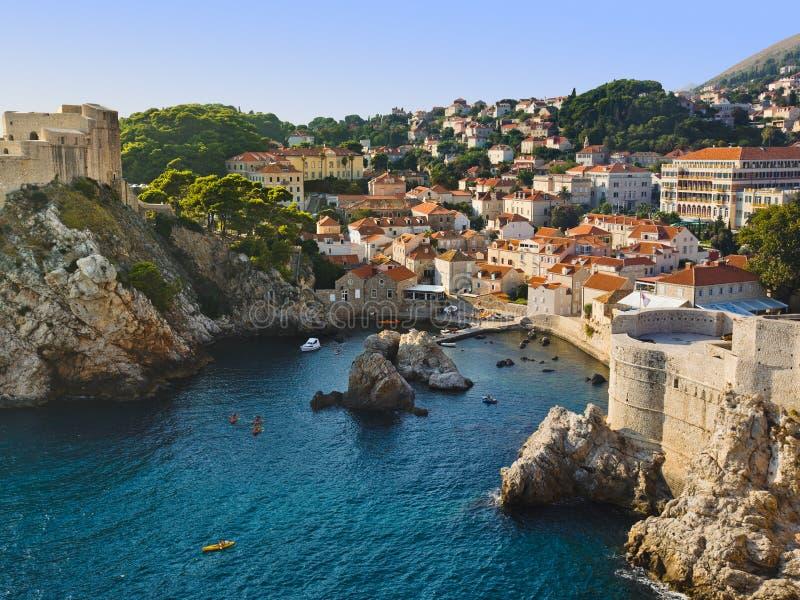 Stad Dubrovnik in Kroatië royalty-vrije stock afbeeldingen