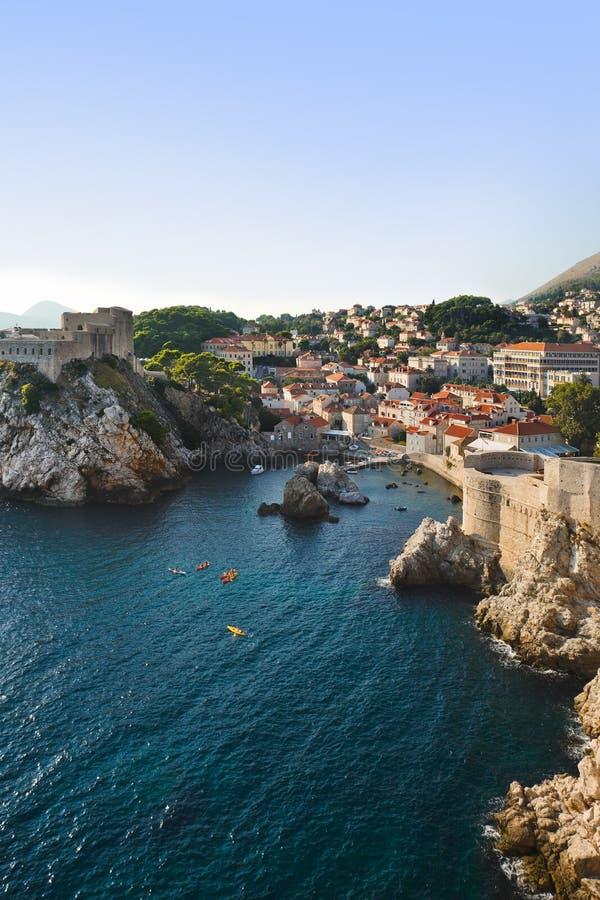 Stad Dubrovnik in Kroatië stock foto