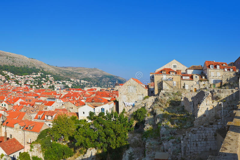 Stad Dubrovnik in Kroatië royalty-vrije stock afbeelding