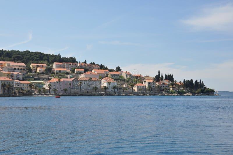 Stad för KorÄ ula i Kroatien royaltyfri foto