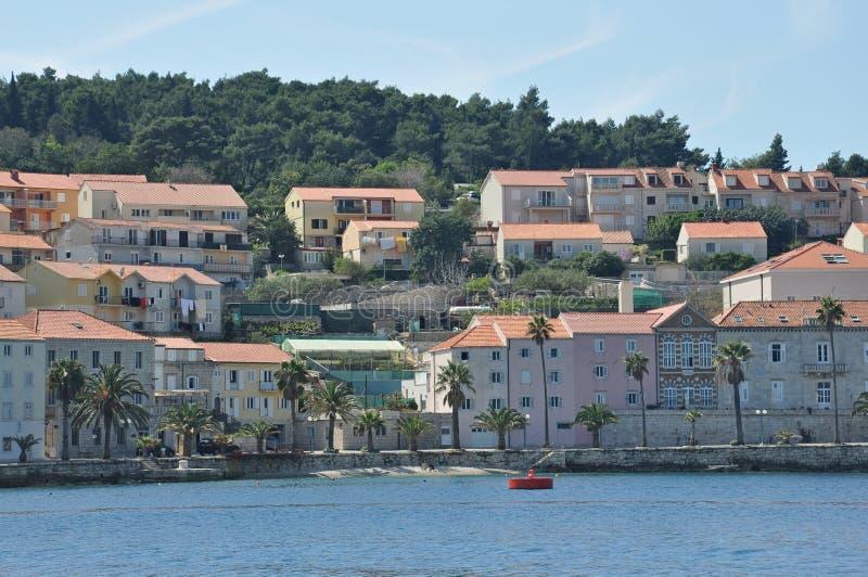 Stad för KorÄ ula i Kroatien royaltyfri fotografi
