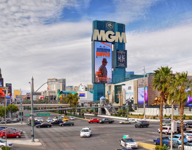 Stad för MGM Las Vegas, Nevada royaltyfri foto