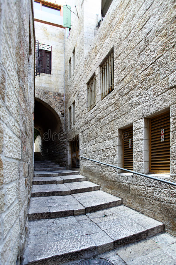 stad gammala jerusalem arkivfoto