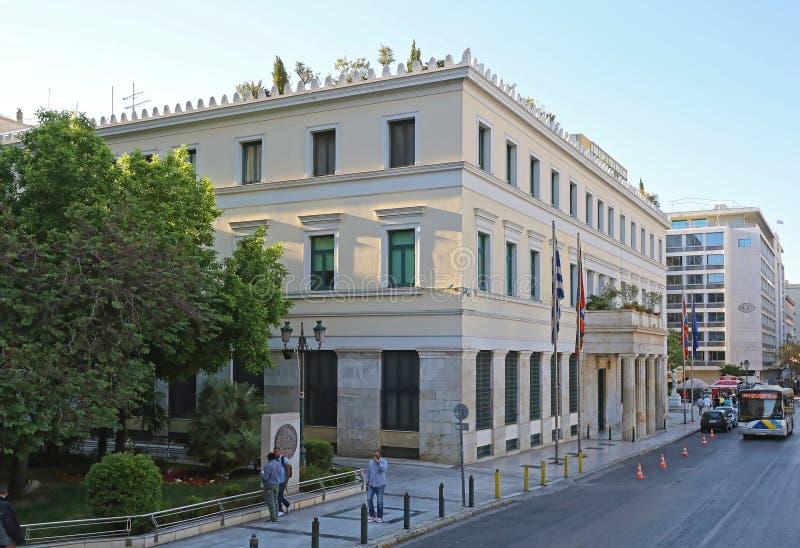 Stad Hall Athens royaltyfri fotografi