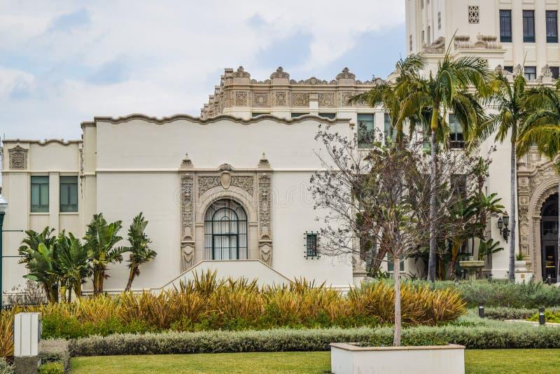 Stad Hall Beverly Hills, Kalifornien arkivbild