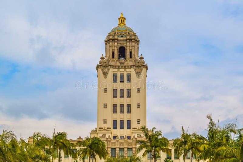 Stad Hall Beverly Hills, Kalifornien royaltyfri foto