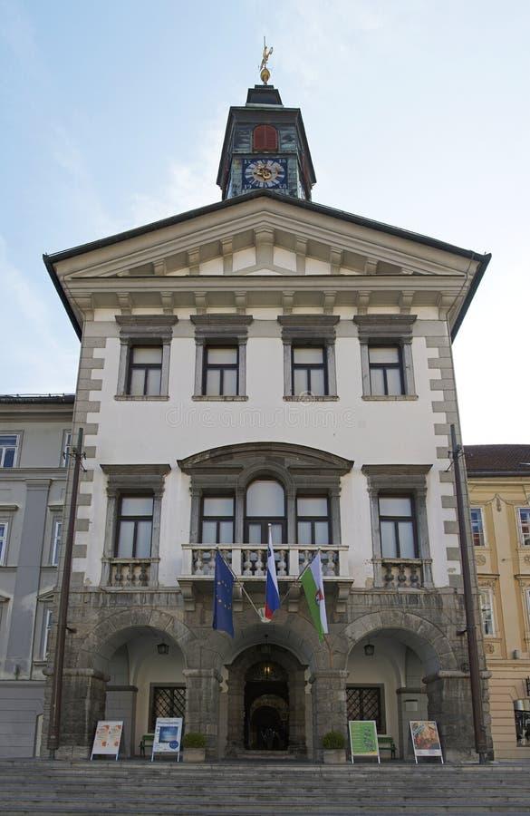 Stad Hall Ljubljana stock foto's