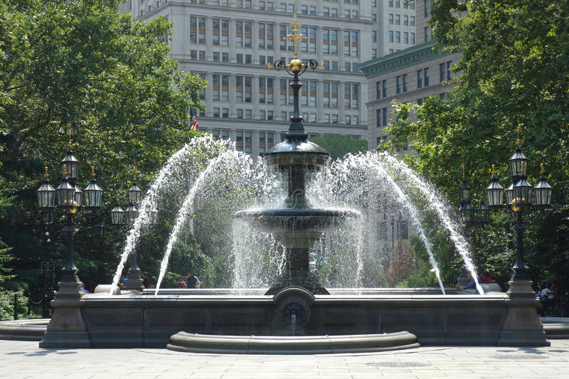 Stad Hall Park stock foto's