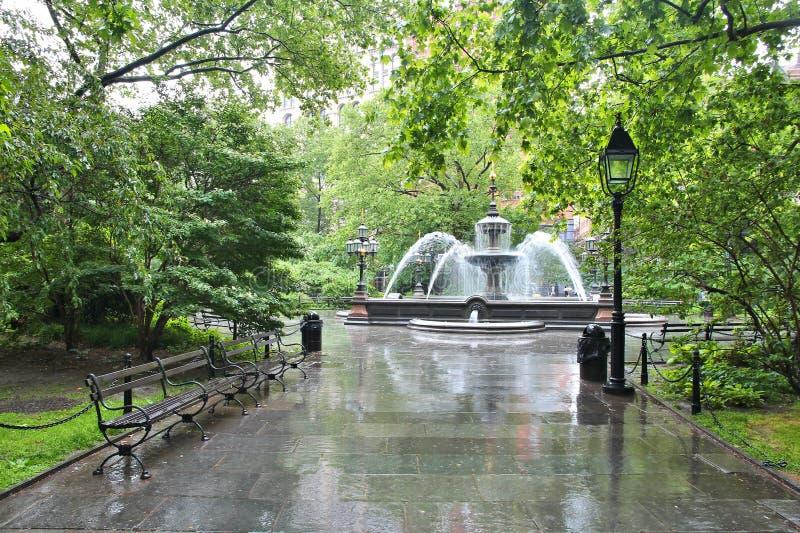 Stad Hall Park, New York royaltyfri foto