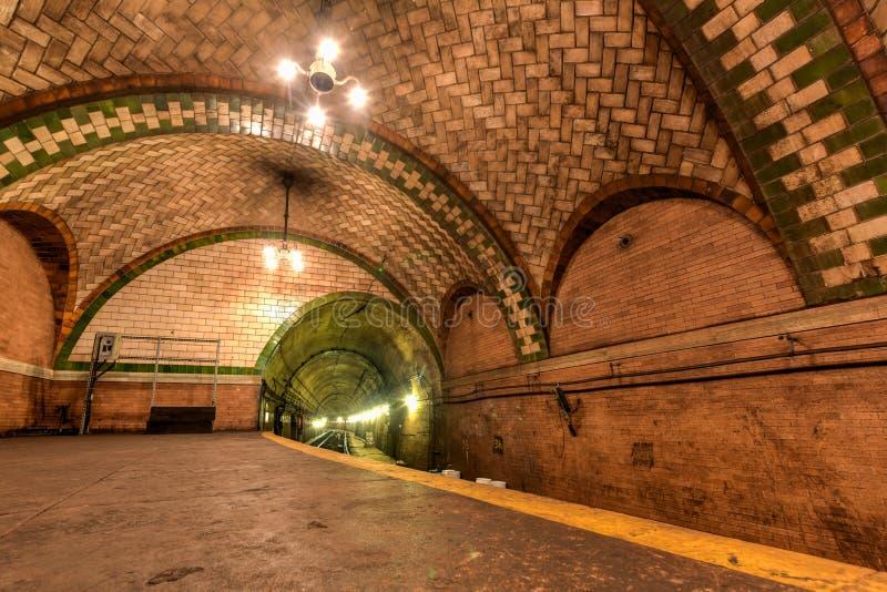 Stad Hall Station - New York City arkivfoton