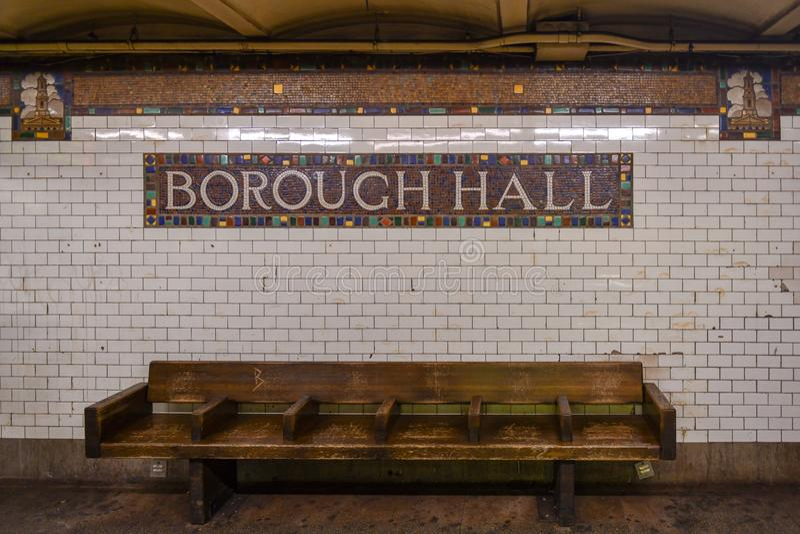 Stad Hall Subway Station - Brooklyn, New York royaltyfria bilder