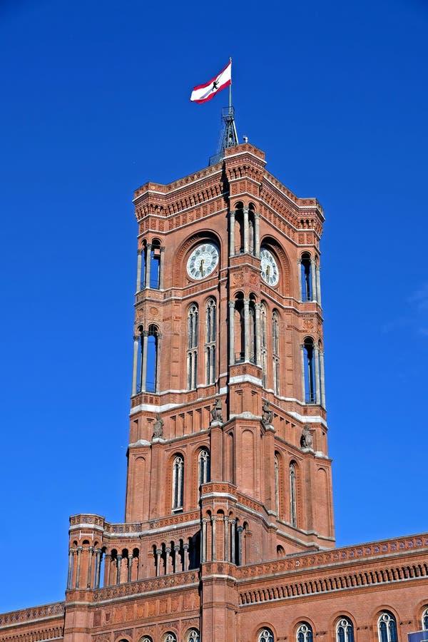 Stad Hall Tower royalty-vrije stock foto
