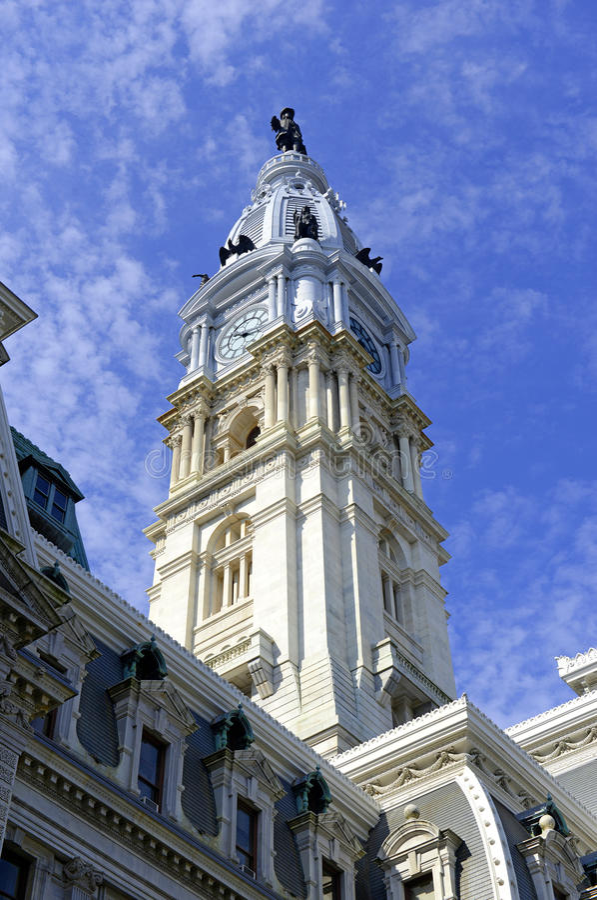 Stad Hall Tower, Philadelphia, Commonwealth van Pennsylvania royalty-vrije stock foto
