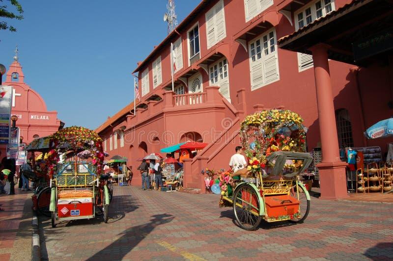 stad histrorical malacca arkivbilder
