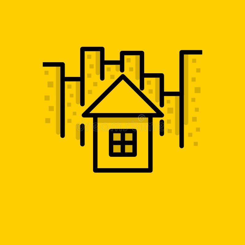 Download Stad, Huis, Huis, Pictogram Vector Illustratie - Illustratie bestaande uit modern, stad: 114227521