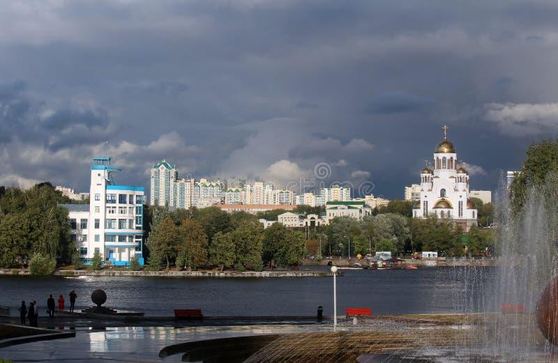 Stad i Ryssland urals Ekaterinburg arkivfoton
