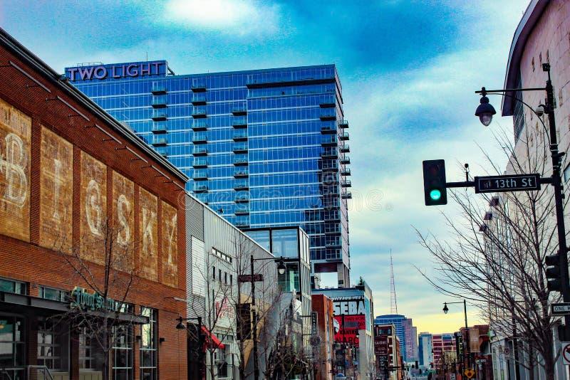 stad i stadens centrum kansas royaltyfri foto
