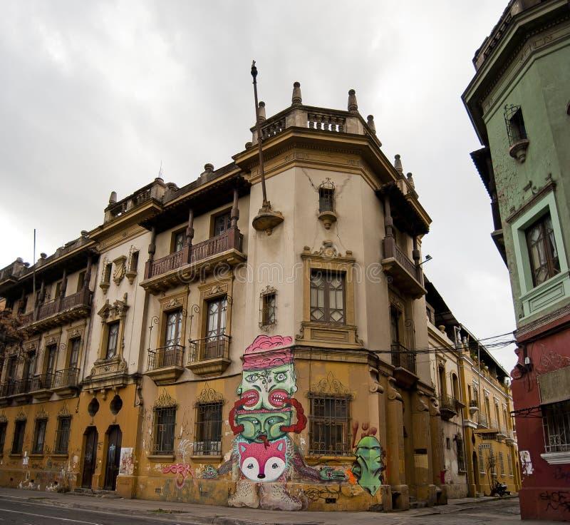 stad i stadens centrum santiago fotografering för bildbyråer