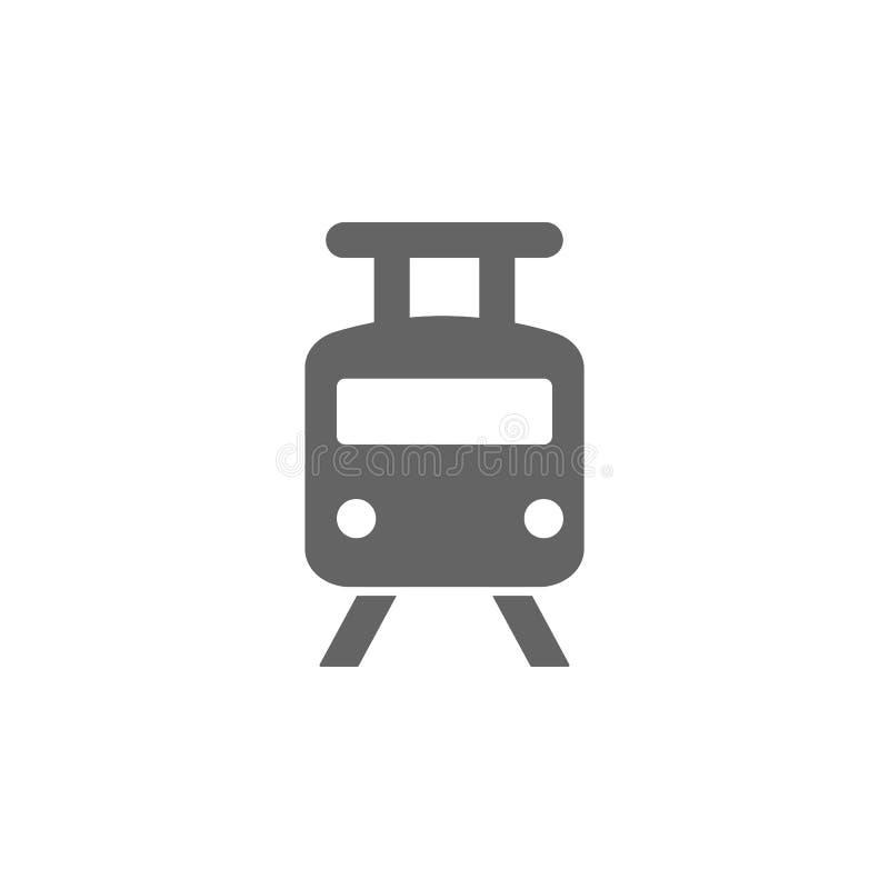 Stad järnväg, spårvagnsymbol Best?ndsdel av den enkla transportsymbolen H?gv?rdig kvalitets- symbol f?r grafisk design tecken och stock illustrationer