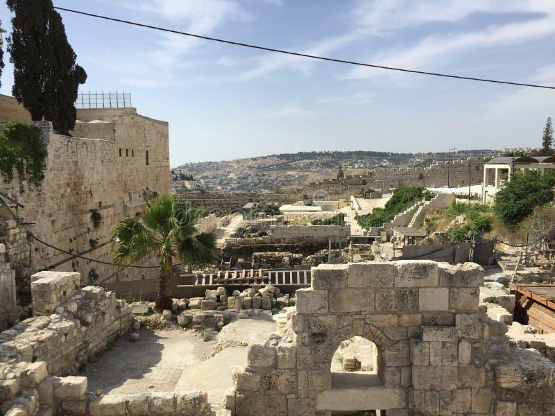 stad Jerusalem arkivbilder
