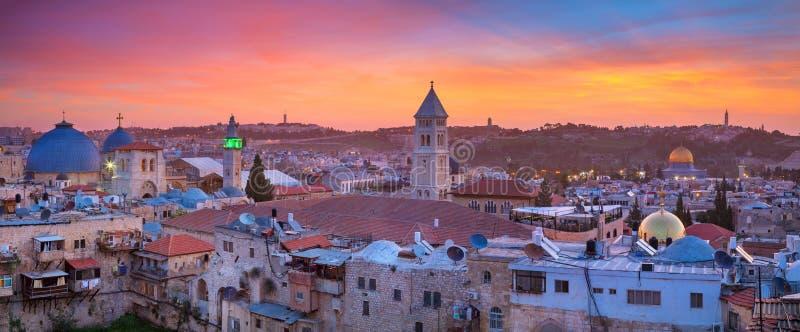 stad jerusalem arkivbild