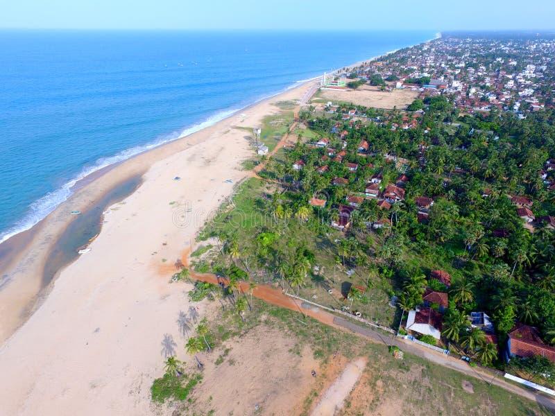 Stad Kalmunai för havssida arkivbilder