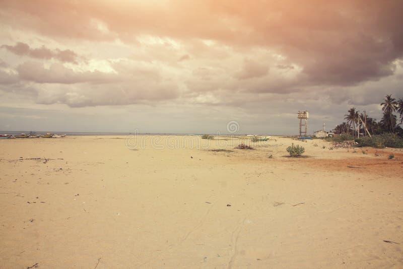 Stad Kalmunai för havssida fotografering för bildbyråer
