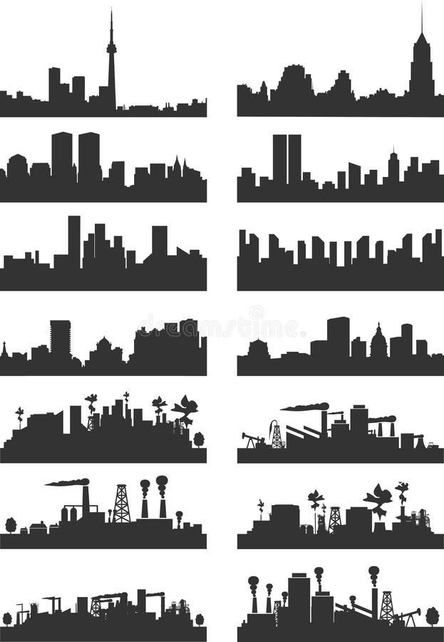 Stad landscape2 vector illustratie