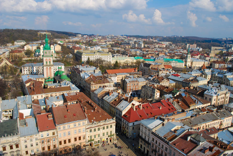 stad lviv royaltyfri foto