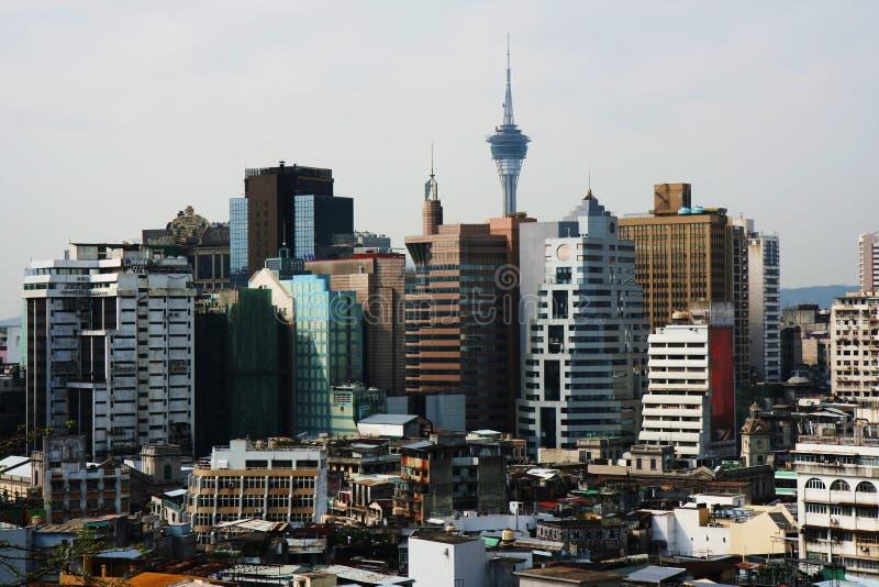 stad macao arkivbild