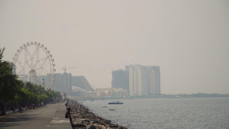 Stad med skyskrapor och byggnader Filippinerna Manila, Makati royaltyfri bild