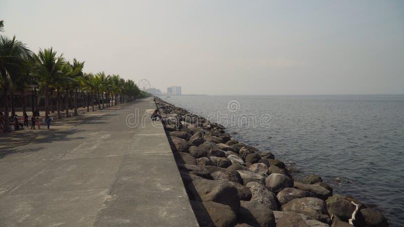Stad med skyskrapor och byggnader Filippinerna Manila, Makati royaltyfria bilder