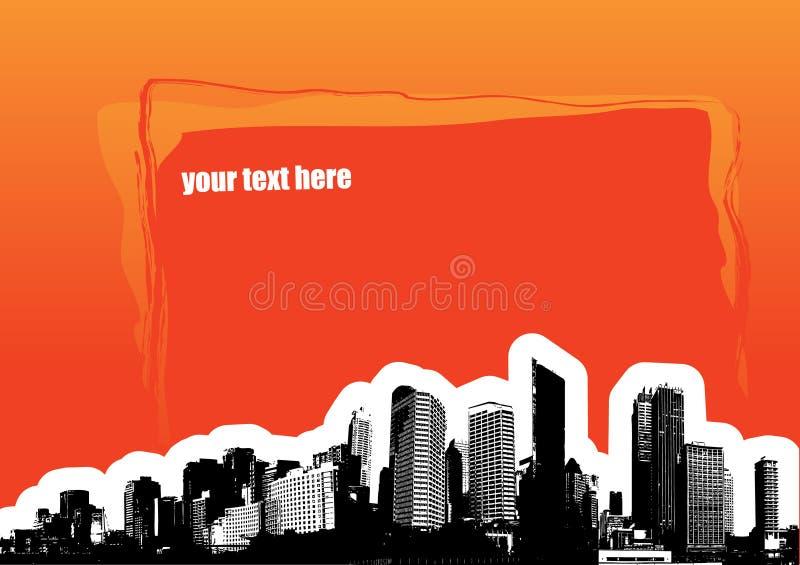 Stad met plaats voor tekst of royalty-vrije illustratie