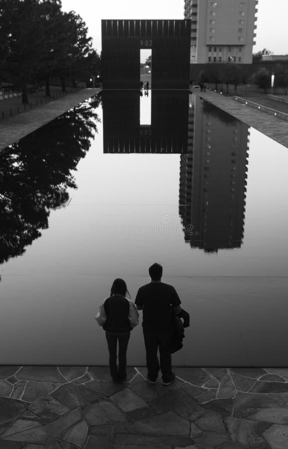 stad minnes- nationella oklahoma arkivfoton